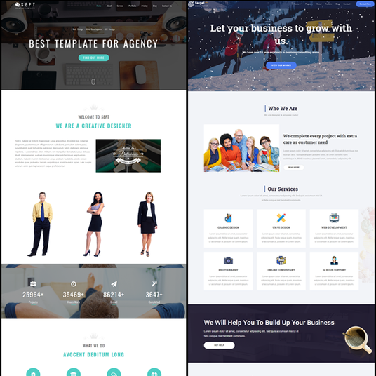 I will Create Great Looking Landing Responsive Page HTML Design