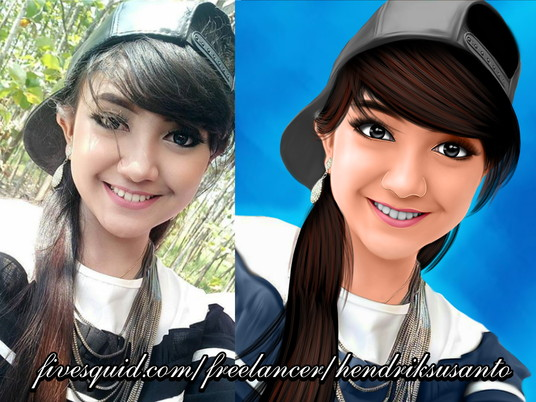 I will make 3D cartoon smudge from your photo