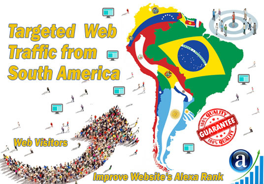 I will send 25000 web visitors targeted organic traffic from South America