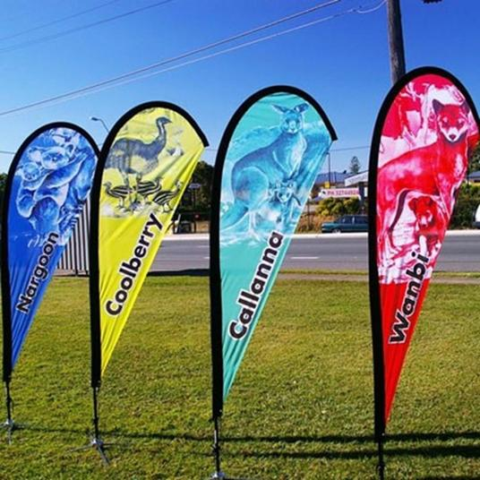 I will make design of teardrop flags, feather flags, wind beach flags, - rectangular flags, churc