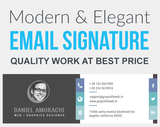 I will design modern email signature