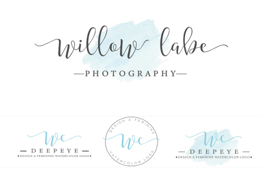 I will Design A Feminine Watercolor Logo