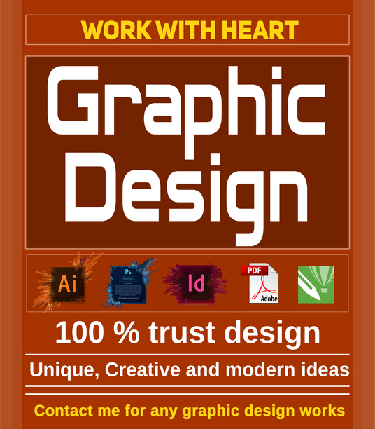 I will do any GRAPHIC DESIGN works