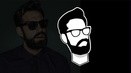 design minimalist flat line vector avatar of you