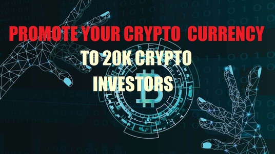 I will promote your crypto currency or ICO