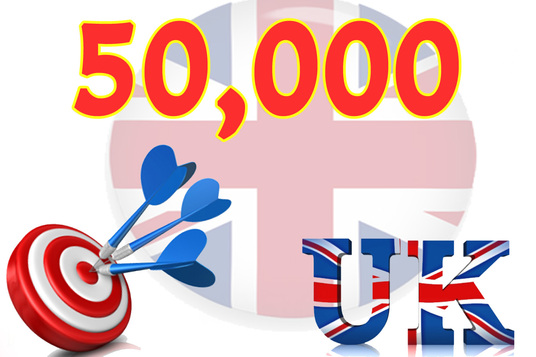 Give you 50,000 Uk Real/Human/Unique Visitors safely