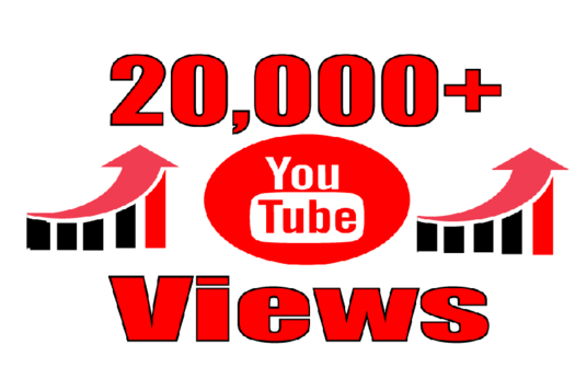 I will provide you high quality 20,000 YouTube Video views