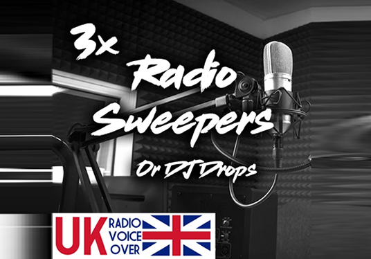 I will create and mix 3x Radio Jingles/Sweepers/DJ Drops