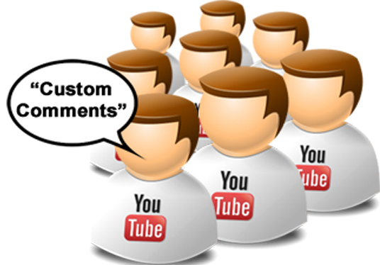 I will post real 30 custom comments to your YouTube videos