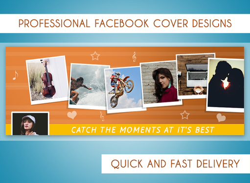 Design creative and professional facebook cover for you