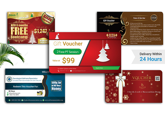 I will Design a Eye catching Gift Voucher for your Business