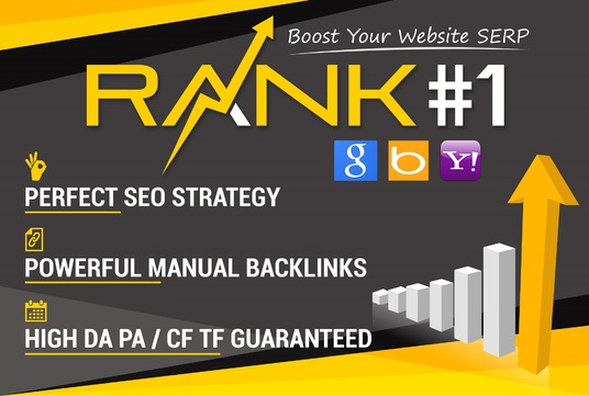 I will Boost Your Website Ranking To The TOP Position on Google, Bing, Yahoo. With 100% Manual Ba