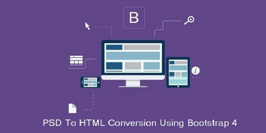 I will Convert PSD To Responsive HTML5 Css3 Using Bootstrap 4