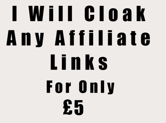 I will cloak (Hide) any affiliate links