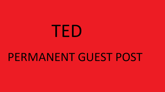 I will  Guest post On Ted