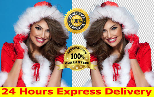I will photoshop remove background of 20 images superfast