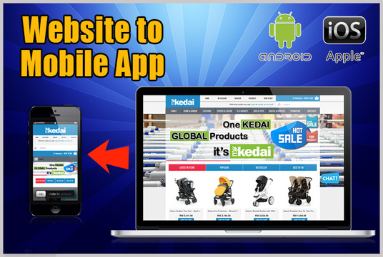 I will convert your Website into ANDROID mobile app