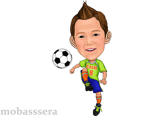 I will create cartoon caricatures for kids