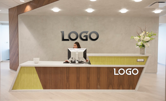 I will place your logo on office wall realistically