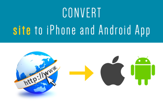 I will convert your website into android and iOS app or upload your app on google play store