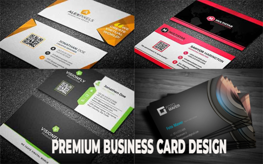 Design Creative Premium High Quality Awesome Business Cards For You