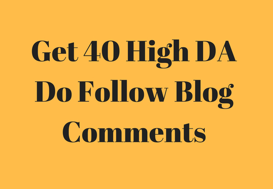 create 40 dofollow blog comments for improving SEO