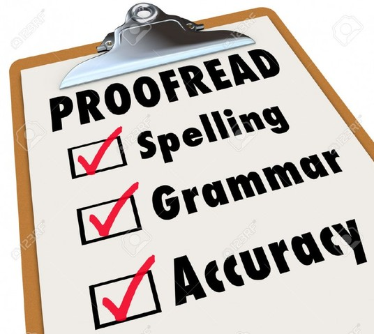 I will proof read any document up to 2000 words