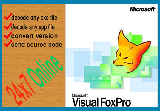 Decode or decompile any foxpro exe or app files for £50 : webandoracle -  fivesquid