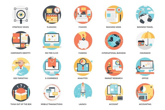 I will send you 300 flat business icons