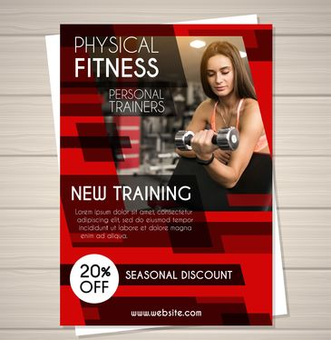 design leaflet or brochure for fitness industry