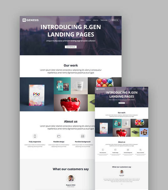 I will create a  beautiful and responsive landing page for your business/online marketing