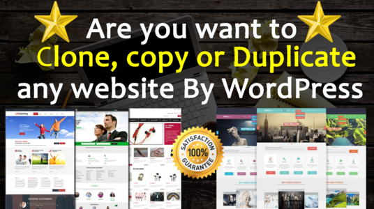 I will clone or redesign any website by WordPress