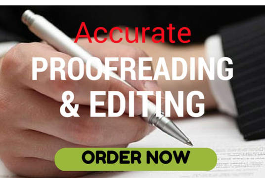 I will Edit And Proofread Your Document