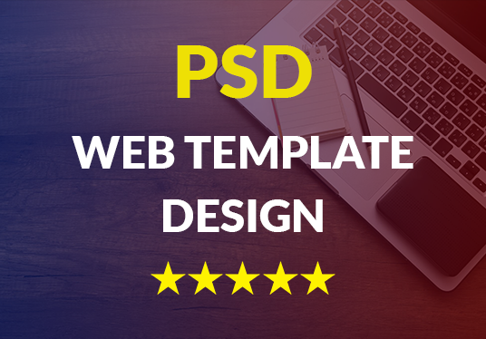 I will create amazing PSD web design templates