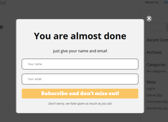 I will setup popup or subscribe form in your WordPress site