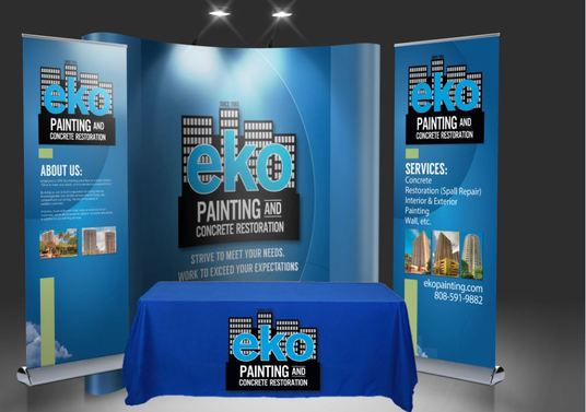 I will Design A Backdrop, Tradeshow Booth, Retractable or web Banner