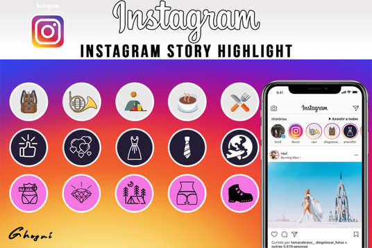 I will Create Instagram Story Highlight Covers For Your Instagram