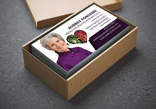 design an elegant and professional business card