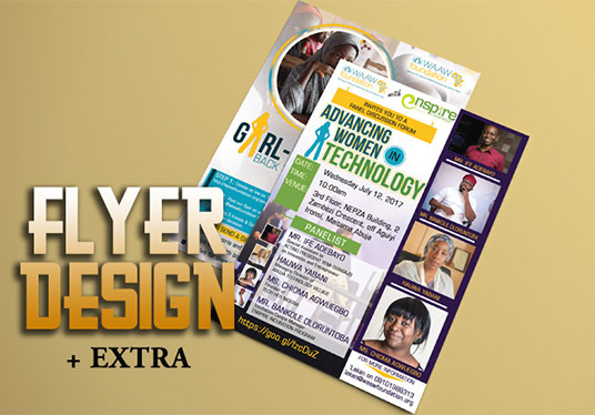 design an eye-catching and professional flyer for any event