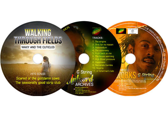 design CD or DVD labels or covers with mockup
