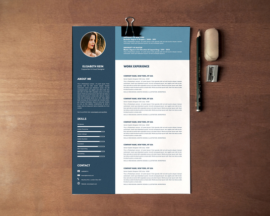 I will do an attractive CV design, resume design