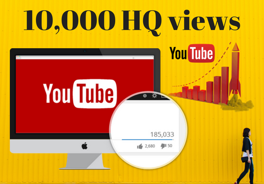 I will add 10,000 HQ YouTube views Real human worlwide