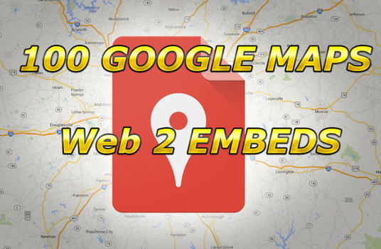 I will Embed Your Google Map In 100 Web2 Sites