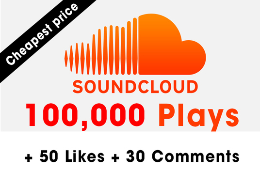 I will add 100,000 Plays + 50 Likes + 30 Comments