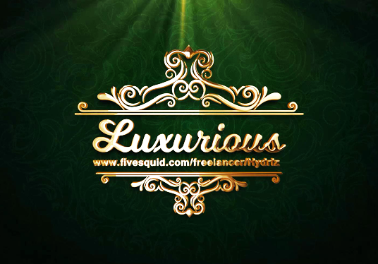 I will Turn your logo into luxurious Gold video