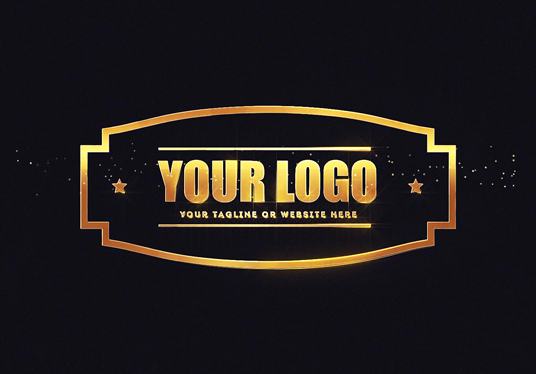Create a Gold Particles intro V3 for your logo