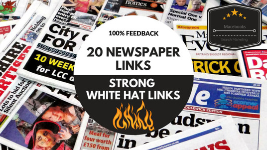 I will Build 20 Dofollow Links From Top UK Newspaper Sites