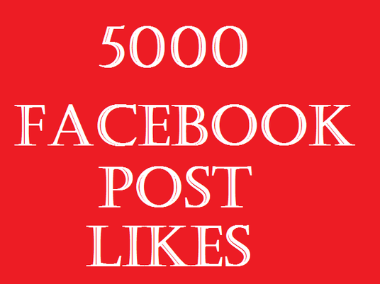 I will provide 5000 facebook post likes