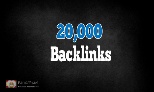 make over 20,000 high quality live SEO backlinks