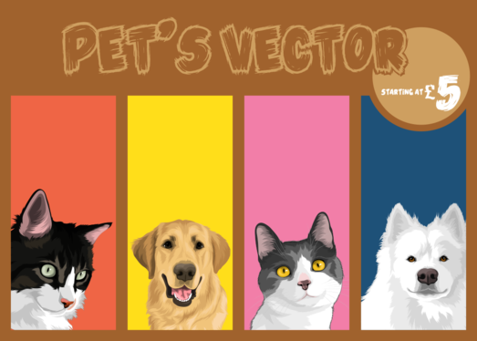 make your pets photo into an interesting cartoon picture